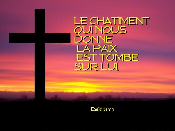 (PHOTO CI-DESSUS) Ésaie 53:5